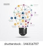 modern design light dot minimal ... | Shutterstock .eps vector #146316707