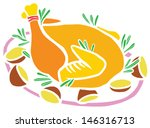 roasted christmas turkey with...   Shutterstock .eps vector #146316713