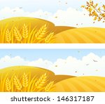 agriculture,autumn,background,banner,branch,cartoon,clip art,cloud,copy space,copyspace,country,countryside,crop,cultivated,fall