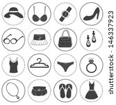 basic fashion icons vector... | Shutterstock .eps vector #146337923