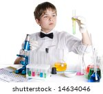 the boy with a microscope and... | Shutterstock . vector #14634046