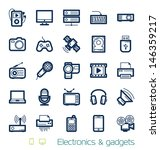 electronics and gadgets icons... | Shutterstock .eps vector #146359217