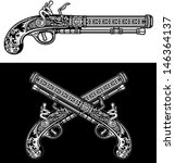 flintlock antique pistol