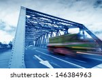 traffic through bridge with