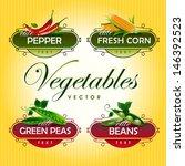 Vegetables. Peas  Pepper  Corn...
