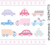 baby car toys set | Shutterstock .eps vector #146394773