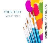 art studio paints  palette | Shutterstock . vector #146403773