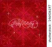 happy holidays greeting | Shutterstock .eps vector #146436197