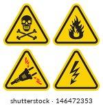 set of warning sign | Shutterstock . vector #146472353
