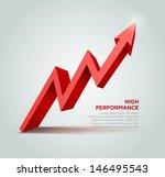 vector 3d arrow graph... | Shutterstock .eps vector #146495543