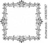 black floral frame | Shutterstock . vector #146500787