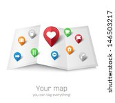empty vector map with tourist's ... | Shutterstock .eps vector #146503217