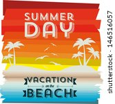 invited vacation on the beach... | Shutterstock .eps vector #146516057
