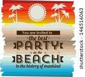 invited vacation on the beach... | Shutterstock .eps vector #146516063