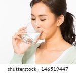 asian woman drinking water | Shutterstock . vector #146519447