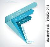 set vector arrows. minimal... | Shutterstock .eps vector #146524043