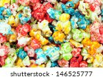 Colorful Popcorn For Backgroun...