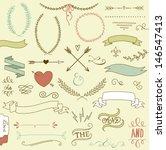 wedding graphic set  arrows ... | Shutterstock .eps vector #146547413