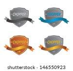 chopper motorcycle retro art... | Shutterstock .eps vector #146550923