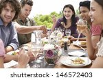 group of multiethnic friends... | Shutterstock . vector #146572403
