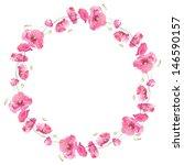 painted watercolor wreath of... | Shutterstock . vector #146590157