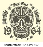 american skull vector art