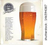 Beer retro background