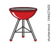 red barbecue  | Shutterstock .eps vector #146627603