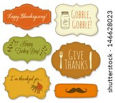 happy thanksgiving frames | Shutterstock .eps vector #146628023