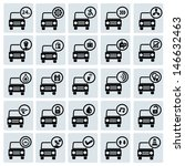 car service icons vector | Shutterstock .eps vector #146632463