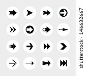 16 arrow sign icon set 02....