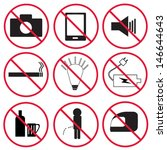 prohibition signs  set  | Shutterstock .eps vector #146644643
