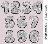 doodle numbers | Shutterstock .eps vector #146649623