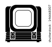 old  vintage tv | Shutterstock . vector #146668307