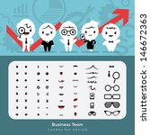Create more than 1000's combinations business characters with these elements