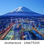 Skyline Of Mt. Fuji And...
