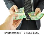 businessman giving money  ... | Shutterstock . vector #146681657