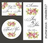 wedding set | Shutterstock .eps vector #146686517