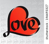 Love Typography. Heart...