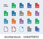 set of image file formats icons....