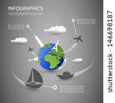 infographic design | Shutterstock .eps vector #146698187