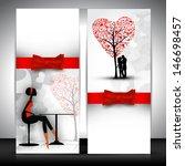 love website banner set. | Shutterstock .eps vector #146698457