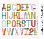 vector abstract alphabet  ... | Shutterstock .eps vector #146701607
