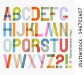 Vector abstract alphabet ( 10eps )   Shutterstock vector #146701607