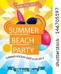 summer beach party vector... | Shutterstock .eps vector #146705597