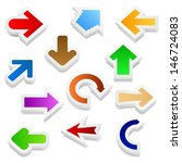 set of 3d arrows | Shutterstock . vector #146724083