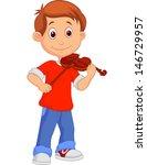 Boy Playing His Violin