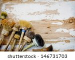 Постер, плакат: Set of old brush