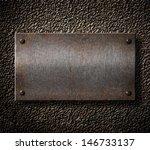 rusty metal plate background | Shutterstock . vector #146733137