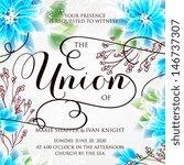 wedding invitation card | Shutterstock .eps vector #146737307